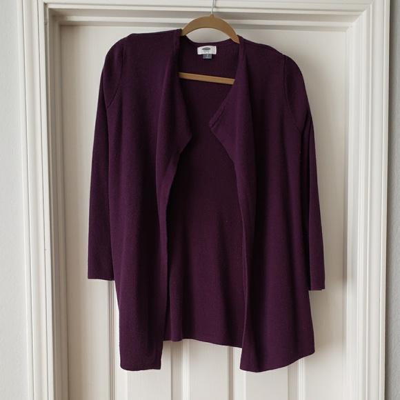 Old Navy Sweaters - Old Navy Dark Purple Open Cardigan